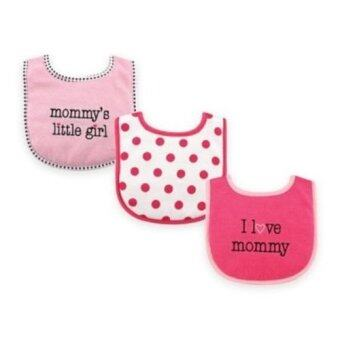 Harga Luvable Friends I Love Drooler Bib - 3pcs (I Love Mommy) Pink