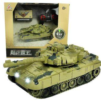 Harga Mini RC Tank Toys Remote Control Army Tanks Toys Tiger Flashing Battle Tank Toy Remote Tank RC With Radio Controller