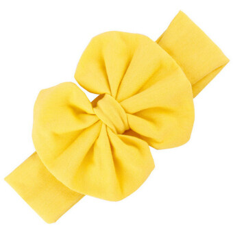 Harga Buytra Girls Baby Bow Hairband Cotton Stretch Yellow