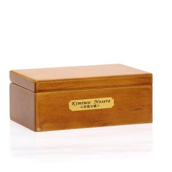 Harga Laxury 18 Note Wind-up Wooden Musical Box with Mirror& Velvet, Gold Musical Movement, Model M33 (Wood,Melody:Always with me from Spirited Away)
