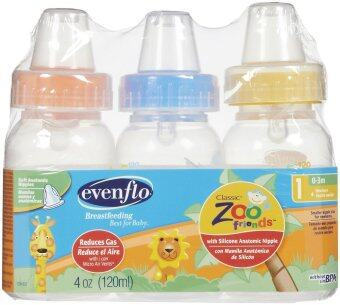 Harga Evenflo Zoo Friends Decorated Polypro Bottle - 4oz ( 3 Pack )