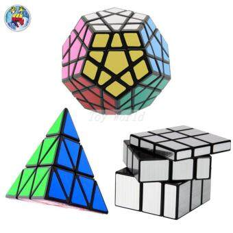 Harga 3PCS/Lot Shengshou Mirror Pyraminx Megaminx Speed Magic Cube Puzzle Puzzle Twist Cubes cubo de rubick Cubiks Juguetes Educativo