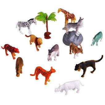 Harga 12pcs Mini Wild Forest Animal Figure Toys Kids Educational Toy