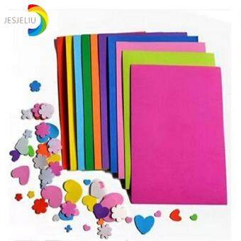 Harga 10pcs/set DIY Paper Sponge Foam Paper Fold Scrapbooking Paper Craft for Kids Gift Mixed Color