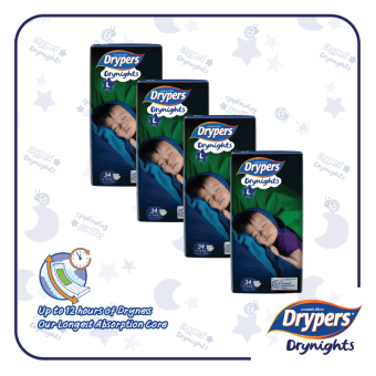 Harga Drypers Drynights L(4x34s)