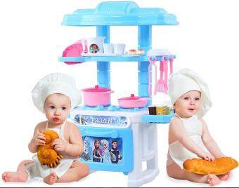 Harga Good Service Kitchen Toys Blue Pretend Play House Toys Kitchen Cooking Simulation Model Happy Kitchen Toy