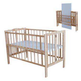 Harga Royalcot R295 Baby cot Natural Foldable Cot