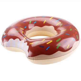 Harga LoveSport Donut Swimming Swim Float Ring Inflatable Pool Toy 120cm (Chocolate)