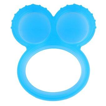 Harga Basilic Silicone Mickey Teething Ring Blue