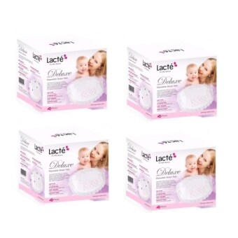 Harga Lacte Deluxe Disposable Breast Pad 36pcs(4 box)
