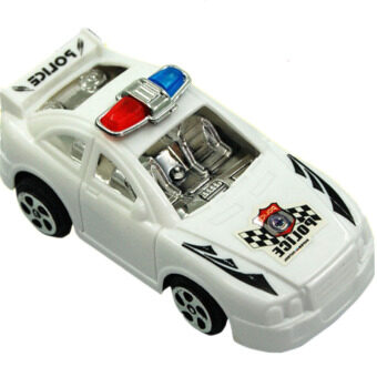 Harga IBERL 2Pcs/Set Mini Pull Back Police Model Cars Toys For Boys and Girls As Gift