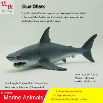Harga TLAND Blue Shark Simulation model Marine Animals Sea Animal kids gift educational props (Prionace glauca ) Action Figures