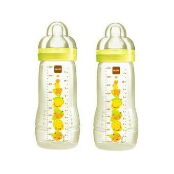 Harga MAM Baby Bottle 330ml Twin Pack - Yellow (2017 NEW EDITION)