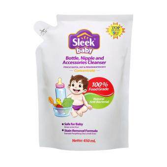 Harga Sleek Bottle Nipple & Baby Accessories Cleanser Pouch 450ml