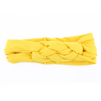 Harga Lovely Girl Baby Flower Headband Hair Band Accessories Headwear (yellow)