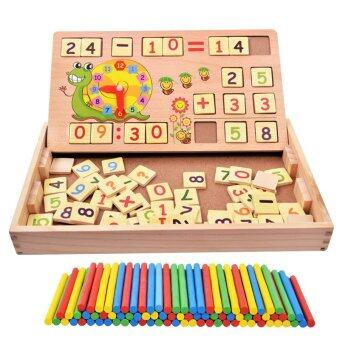 Harga 2016 Goodfaith Multifunctional Early Learning Educational Wooden Toy With Number and Alphabet Calculation Learning