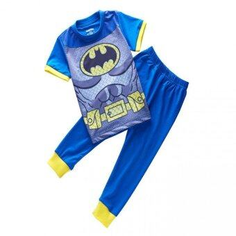 Harga Realeos Baby Boys Short Sleeve T-shirt Top V Pant Batman Set (Batman)