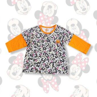 Harga Disney Mickey & Minnie Orange Long Sleeves Shirt