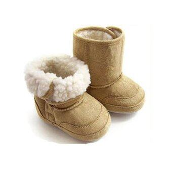 Harga Infant Toddler Baby Boy Khaki Warm Winter Snow Boots Shoes FurLining