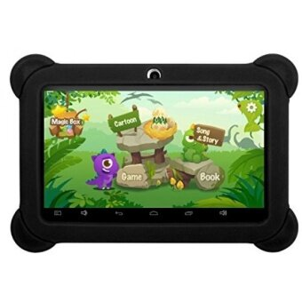 iRola [7 INCH] Quad Core [Android 4.4 KitKat] Kids HD Tablet PC-8GB Storage W/ 32GB Expandable Memory, 1024x600, Dual Camera, WiFi& Bluetooth, Micro USB/SD Card Slot, Google Play Apps- (Black)