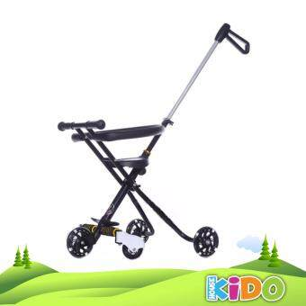 Kido House - New 5 Wheel Flashing Magic Stroller With SecurityFence