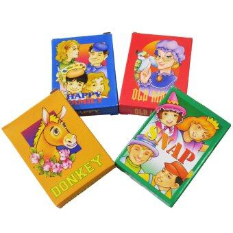 Harga Kid's Classic Card Games Collection (Donkey / Snap / Old Maid /Happy Family) 2 Sets of Each Game