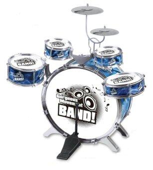 Harga Kids Simulation Jazz Drum Musical Toy 5Drums Blue BASS DRUM