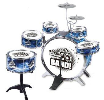 Harga Kids Simulation Jazz Drum Musical Toy 6Drums Blue BASS DRUM