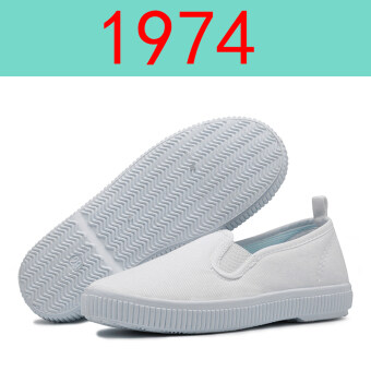 Kindergarten small white shoes children's white shoes baby a pedalovershoes Boys Girls spring and autumn to help low canvas shoes