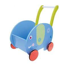 Labebe Baby Walker 2-in-1 Toy Chest Blue Elephant Walker Baby Push Toy for 1-3 Baby Wagon/Activity Walker Baby/girl walker/Learning Walker Girl/Baby Walker Wheels/Push Walker Boy