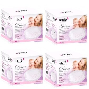 Harga Lacte Deluxe Disposable Breast Pad (144 pcs) - 4 Boxes