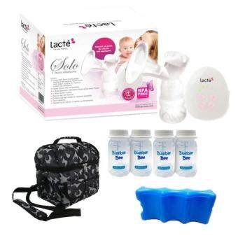 Harga Lacte Solo Single Electric Breastpump Vcool Package