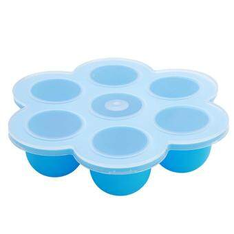 LALANG Silicone Baby Food Storage Freezer Tray Container (Blue)