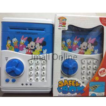 Latest [DOOR AUTO OPEN, Music, LED] Kids Piggy Bank ATM MachineNotes Coins Saving Box FREE 3 Batteries For West Malaysia