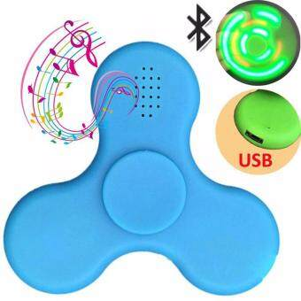 Harga LED Lights Fidget Spinners with Bluetooth Music Speaker USB Charging Luminous Hand Spinners Stress Reducer Music Decompress Toys Tri Fidget