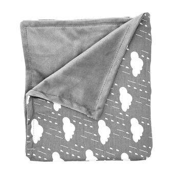 Harga LittleJump Extra Soft Reversible Blanket Minky Baby Blankets, Warmand Cozy Baby blanket swaddle for newborn -80 x 75cm, Grey Chevronmink blanket stroller blanket For Boys and Girls