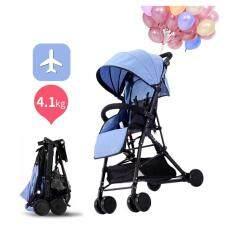 louis le petit lightweight travel baby stroller blue