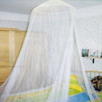 Luxury Home Double Ceiling Bed Dome Mosquito Net White