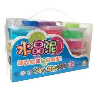 Magic Crystal Clay Slime Toy (12 Colors) with Bonus Moulding Tools