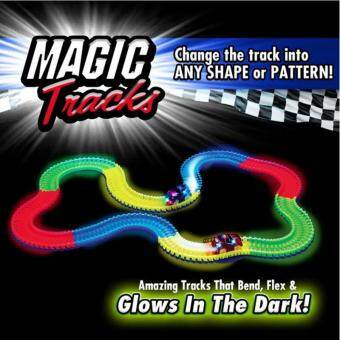Magic Tracks with 1 Race Car, As Seen on TV, 165 Piece Glowing Track Set (165 Piece)