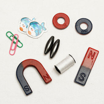 Magnets field teaching education tool set horseshoe magnet + ringmagnet Toy