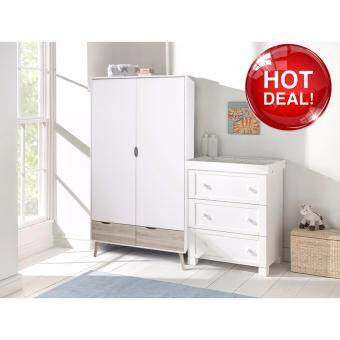 Harga MALM Wardrobe White Dresser 2 Doors with Drawer Closet