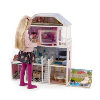 Mamakiddies Tall Barbie Wooden Brighton Dolls House Lazada Malaysia