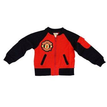 Harga Manchester United Front Zipper Jacket ( Red)