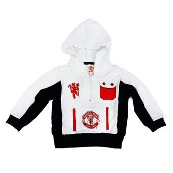 Manchester United Hooded Jacket ( White)
