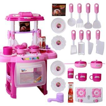 Harga Mini Plastic Classic Pretend Play Kitchen Cooking Toys SimulationKids Small Toy House Kitchen Toys for Children(Pink)