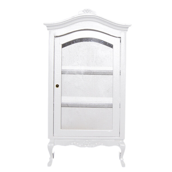 Miniatures Furniture Multifunctional Wooden Wine Cabinet White ...