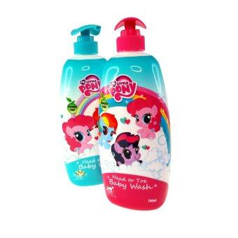 Harga My Little Pony Twin Pack 750ML Head To Toe Baby Wash - HoneyStrawberry Cow Milk & Soya Bean