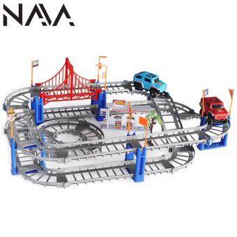 Harga NaVa 67 PCS Customizable Highway Electronic Car Full Track Set