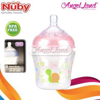 Harga Nuby Natural Touch 9oz/270ml with SoftFlex Natural Nurser (Pink) -NB68076